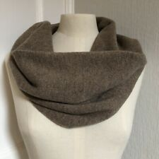 100% Pure Cashmere Knitted Mushroom Scarf / Collar / Neck Warmer / Short Snood