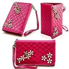 Strass Luxus Book Style Handy Tasche Flip Cover Schutz Hülle Design Case Etui