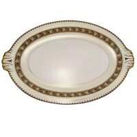"Vintage Meito China Asama Shape China 15"" Serving Platter Gold Trim"
