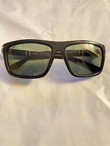 PERSOL PO 9658 BLACK SUNGLASSES USED MADE ITALY
