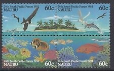 1993 NAURU 24th SOUTH PACIFIC FORUM BLOCK OF 4  FINE MINT MUH/MNH
