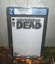 ONLY 20 in existence!! The Walking Dead #100 PGX 9.8 Hero Initiative BLANK COVER