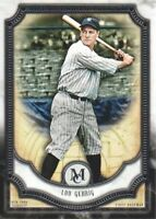 2018 Topps Museum Collection Baseball #60 Lou Gehrig New York Yankees