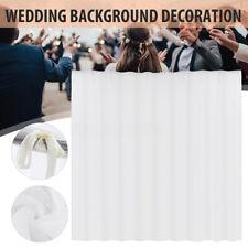 "White Mesh Wedding Party Backdrop Curtain Drapes Background Decor Draping 118"""