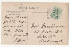 Seaford 20 Jan 1906 Squared Circle Postmark 161c