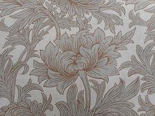 William Morris Curtain Fabric 'Chrysanthemum Toile' 3.9 METRES 390cm Slate/Cream