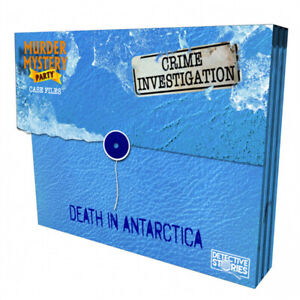 Murder Mystery Case Files Unsolved Crimes Death in Antartica Board Game NEW