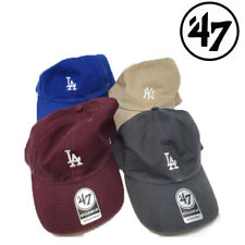 47 BRAND CLEAN UP SMALL LOGO DODGERS MLB BLUE GREY BURGUNDY NY BEIGE  HAT CAP