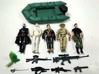 Vintage 1980s Lanard The Corps , GI Joe Lot Of 5 Action Figures with Accessories
