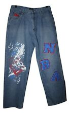 Vintage UNK Men's Denim NBA Basketball Team Jeans Size 36 x 33