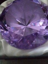 Rosenthal purple Crystal Diamond Faceted Gem Paperweight in Original Box