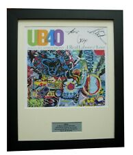 UB40+ALI CAMPBELL+SIGNED+FRAMED+REAL LABOUR LOVE=100% AUTHENTIC+FAST GLOBAL SHIP