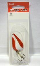 Acme Stee-Lee Red White Brass 1/2 oz Spoon Lures Spinner Steelee New