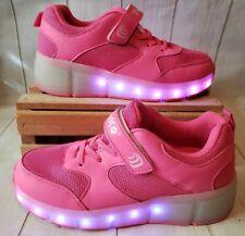 Tuko Rechargeable LED Light Up Roller Skate Shoes Heel Wheels Girls Sz 5.5