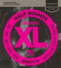 D'Addario Half Round Bass Guitar 5-Strings, Regular Light, 45-130, Long Scale
