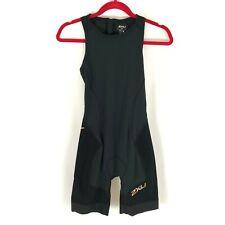 2XU Womens Short Course Tri Suit Triathlon Swim Black Size S