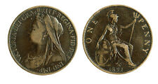 pcc1797_15) Great Britain Queen Victoria - One 1  penny 1897