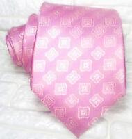Cravatta uomo  larga rosa JACQUARD seta Made in Italy business / matrimoni