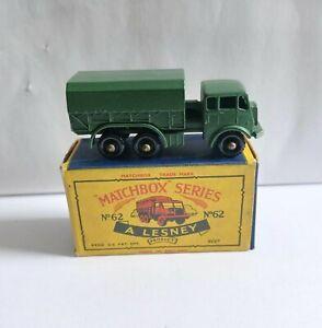 MATCHBOX 62 GENERAL SERVICE LORRY & RARE C1 BOX MINT !