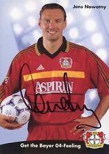 Autogrammkarte Jens Nowotny Bayer Leverkusen signiert Originalunterschrift