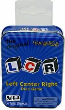LCR Left Center Right Dice Game w/ Storage Blue Tin Original Family Fun