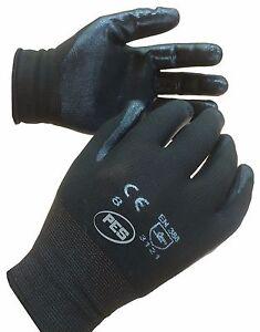 TEKNI Nylon Nitrile Palm Coated Glove, Builder Gardening Mechanic, 12 pair 3121