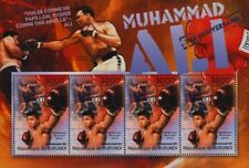 MUHAMMAD ALI (Fight vs. Leon Spinks) Boxer Boxing Stamp Sheet (2012 Burundi)