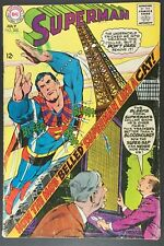 DC COMICS SUPERMAN # 208 JULY 1968  VF- SUPERMAN BELLED BY THE MOB!