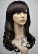 HE-J1081   2016 new style long brown wavy  hair lady wigs for women wig