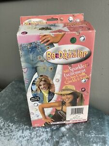 Vintage Bedazzler Kit with Rhinestones, Applicator, Studs, Pattern Map