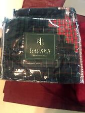 New Ralph Lauren Chandler Plaid Quilted Pillow Shams NIP - 100% Cotton  Standard
