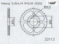 Stahl Kettenrad 38 Zähne - 520 Teilung SYM Quad Lander 200  UA18A1-6 2010
