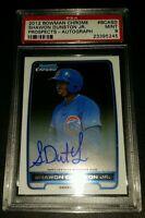 2012 Bowman Chrome #BCA-SD- Shawon Dunston Jr. Autographed RC! PSA MINT 9!