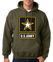 ARMY LOGO MILITARY GREEN HOODIE United States Hooded Sweatshirt Usarmy Ranger US
