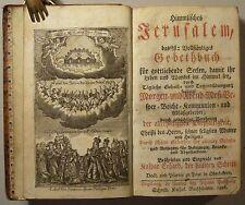 GEBETBUCH KASPAR ERHARD: HIMMLISCHES JERUSALEM, 1806, GANZLEDER, KUPFER, SELTEN
