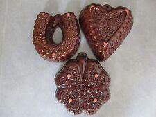 3 Alte Backformen Kuchenform Puddingform Sülzeform Scheurich Keramik Steingut