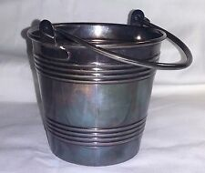 Wiskemann Silverplate Small Ice Bucket with Insert MCM Belgium Art Deco