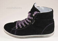 Ricosta Girls Zaynata Waterproof Black Suede Trainer Boots UK 2 M EU 34 RRP £56