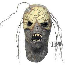 Adult Scary Green Latex Dryad Halloween Mask Horror Fancy Dress Costumes Props