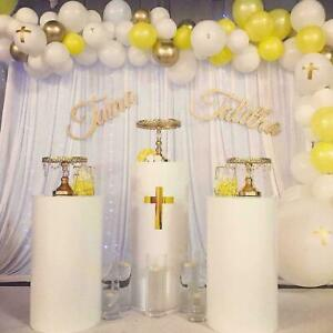 Round Display Plinths/Podiums White, Gold or Silver