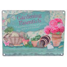 Vintage Aged  Retro Tin Metal Hanging Plaque Sign ~ Gardening Essentials Kitchen
