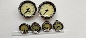 Smiths Replica Kit- Elec Temp + Oil + Fuel+ amp Gauge+Speedometer +Tacho 100 mm