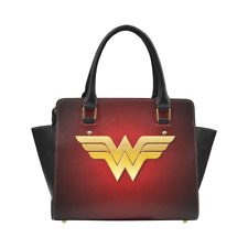 Wonder Woman Leather Women Purse Top Handle Tote Style Handbag