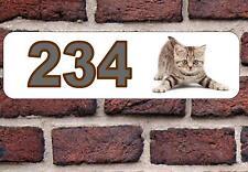 Kitten House Door Number Sign  Design Metal Door Sign