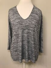 Wilfred Free Women's LARGE long slv crewneck jersey knit top Gray