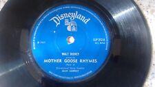 "STERLING HOLLOWAY MOTHER GOOSE RHYMES 1967 UK DISNEYLAND 7"" LP LLP 312"