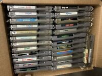 Lot Of 26 Nintendo NES Games Mach Rider Pin Bot To The Earth Golf Side Pocket