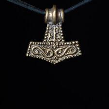 Small Thor's Hammer Pendant, Mjolnir, brass, handmade