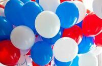 60 Street Party France Football White Blue Red Latex Balloons BALOON UK EID MU