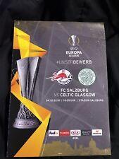 Off. Programm Redbull FC Salzburg vs Celtic Glasgow UEFA Euroleague